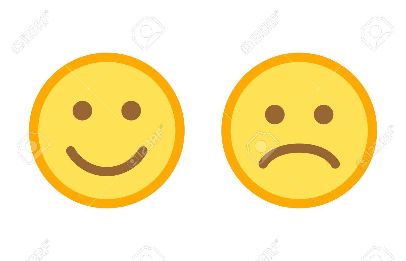happy and sad emoji