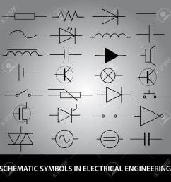 schematic symbols in electrical engineering icon set stock vector 24120410 [ 1300 x 1300 Pixel ]