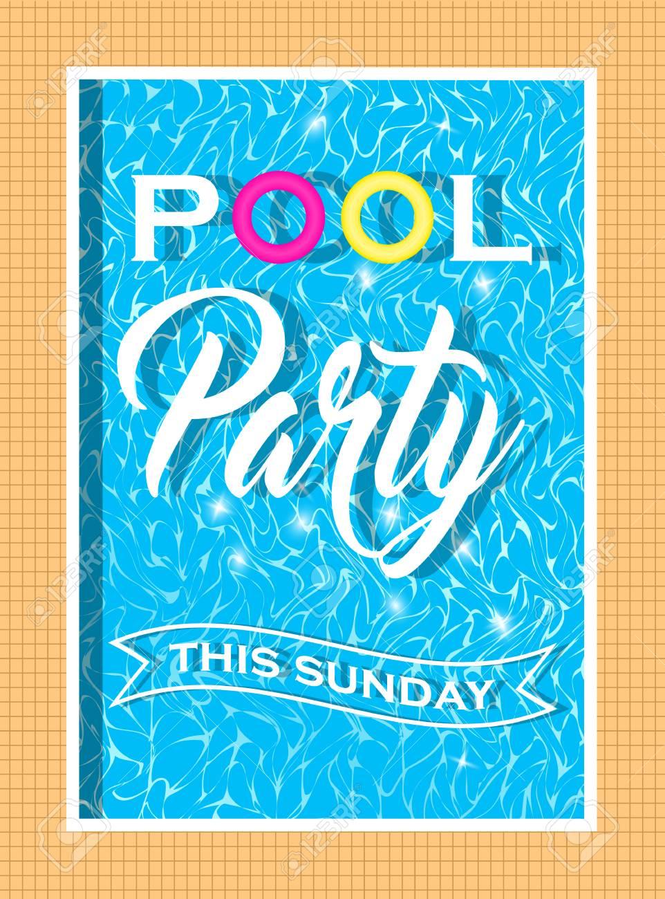 Vector - Vector Pool Party Invitation Design
