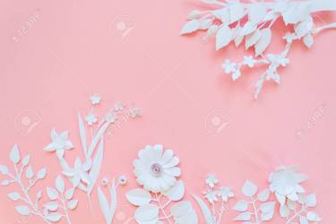 White Paper Flowers Wallpaper On Pink Background Spring Summer Stock Photo Picture And Royalty Free Image Image 95745520