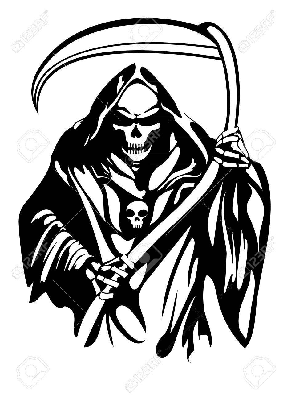 Grim Reaper Clipart : reaper, clipart, Handamde, Reaper, Vector, Design, Royalty, Cliparts,, Vectors,, Stock, Illustration., Image, 71884494.