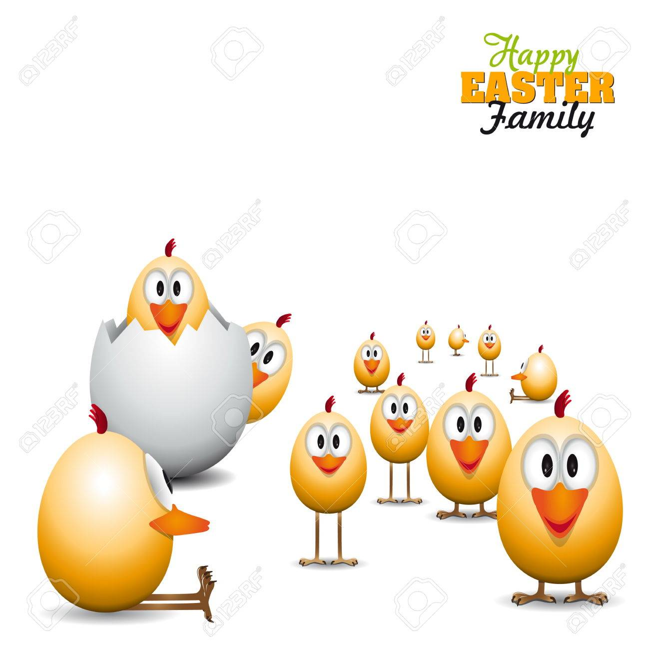 Funny Happy Easter Background