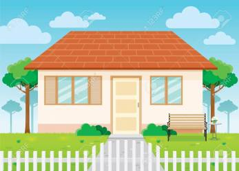Family House And Garden Home Exterior House Building Landscape Royalty Free Cliparts Vectors And Stock Illustration Image 78351341