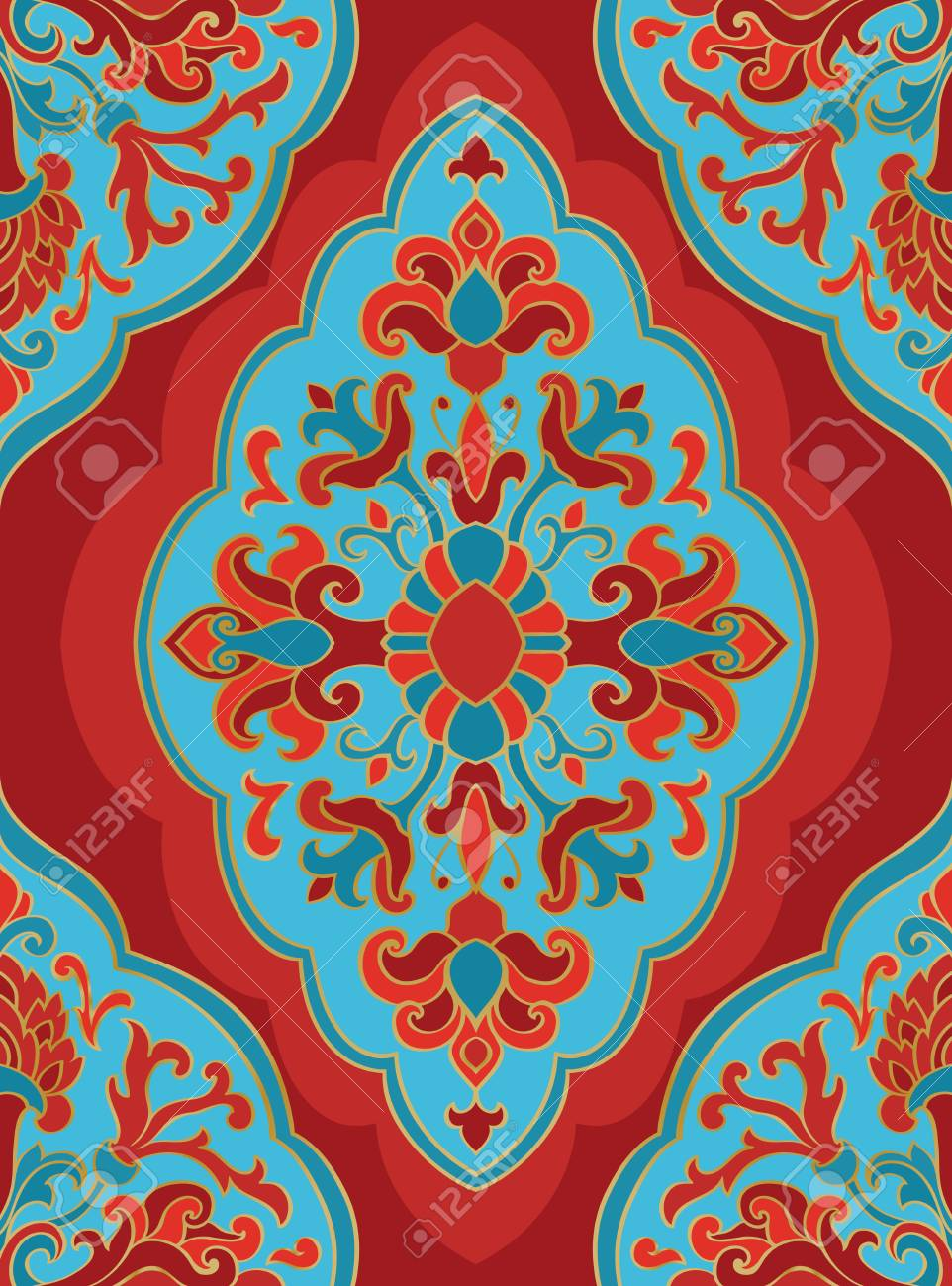 Teppich Blau Ornament Stock Photo