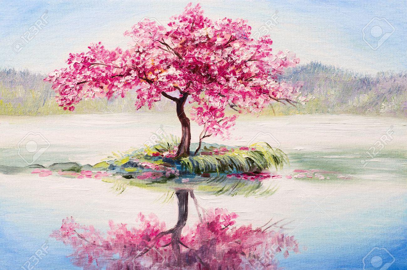 oil painting landscape oriental