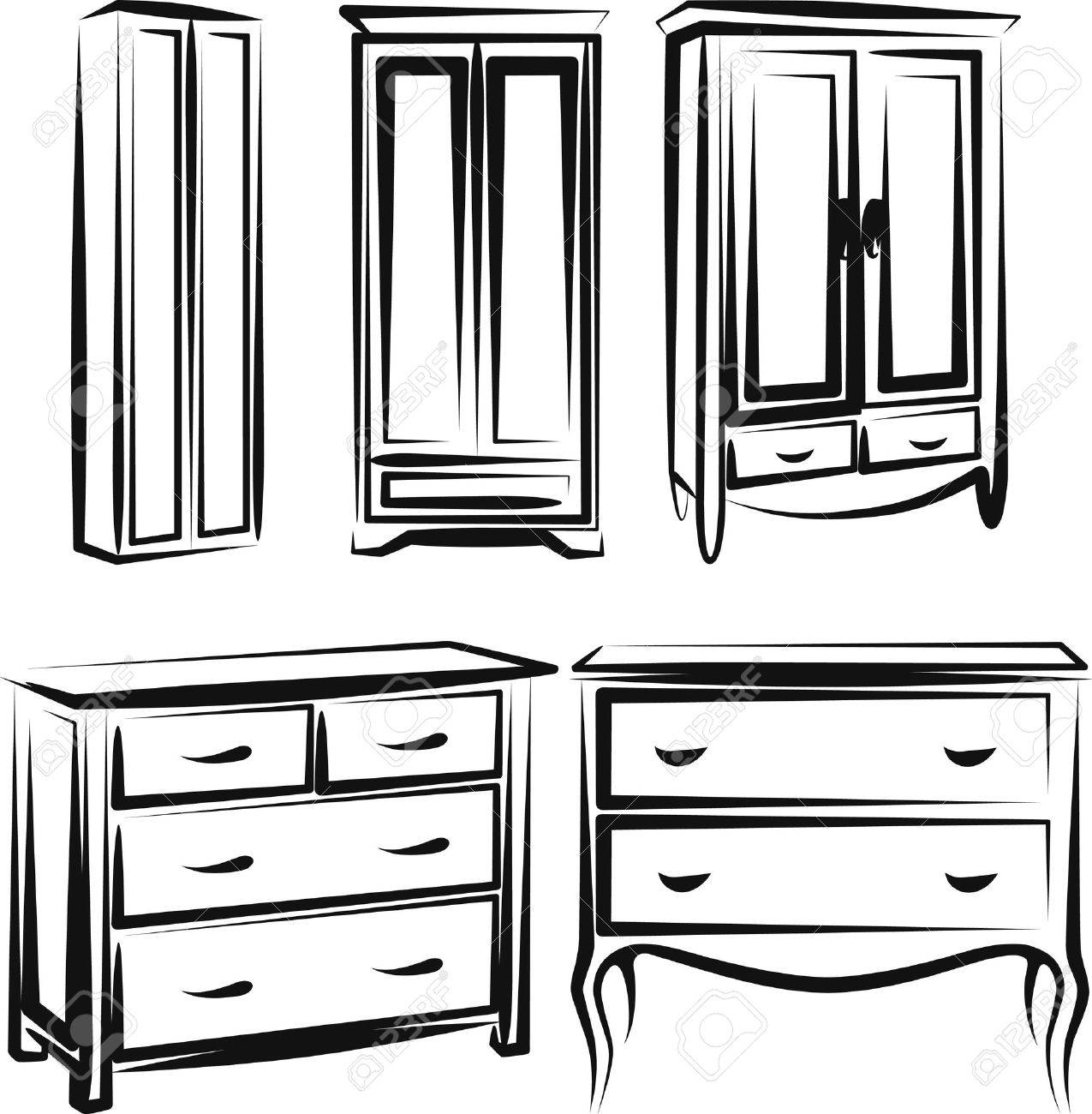 Wardrobe Clipart Black And White Marvellous Bathroom Wardrobe
