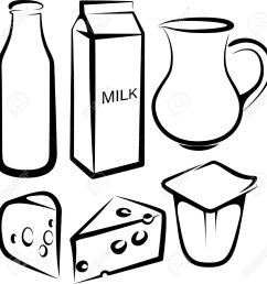 set of dairy products stock vector 9507480 [ 1270 x 1300 Pixel ]