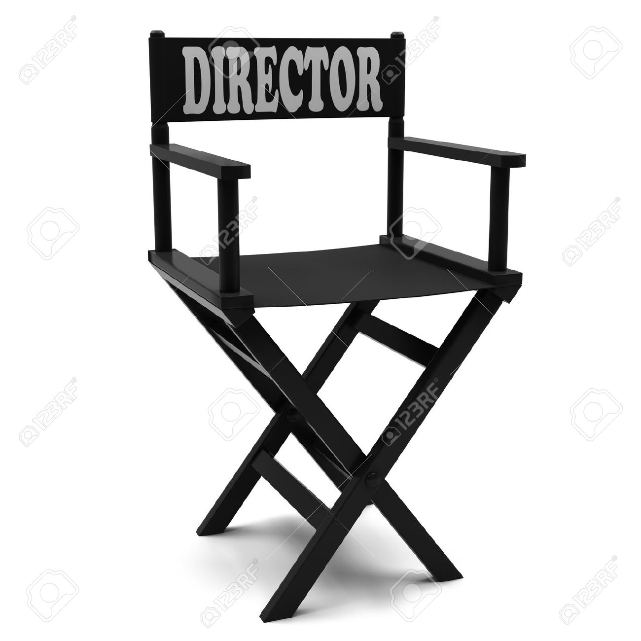 directors chair white diy cushion no sew flim industry on a background stock photo 13127062