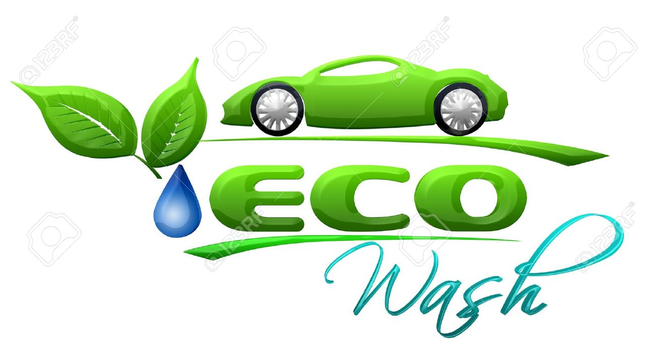 Eco Car Wash Symbol Stock Photo Picture And Royalty Free Image Rh 123Rf Com Car  Wash Flyer Template Car Wash Bubbles Clip Art