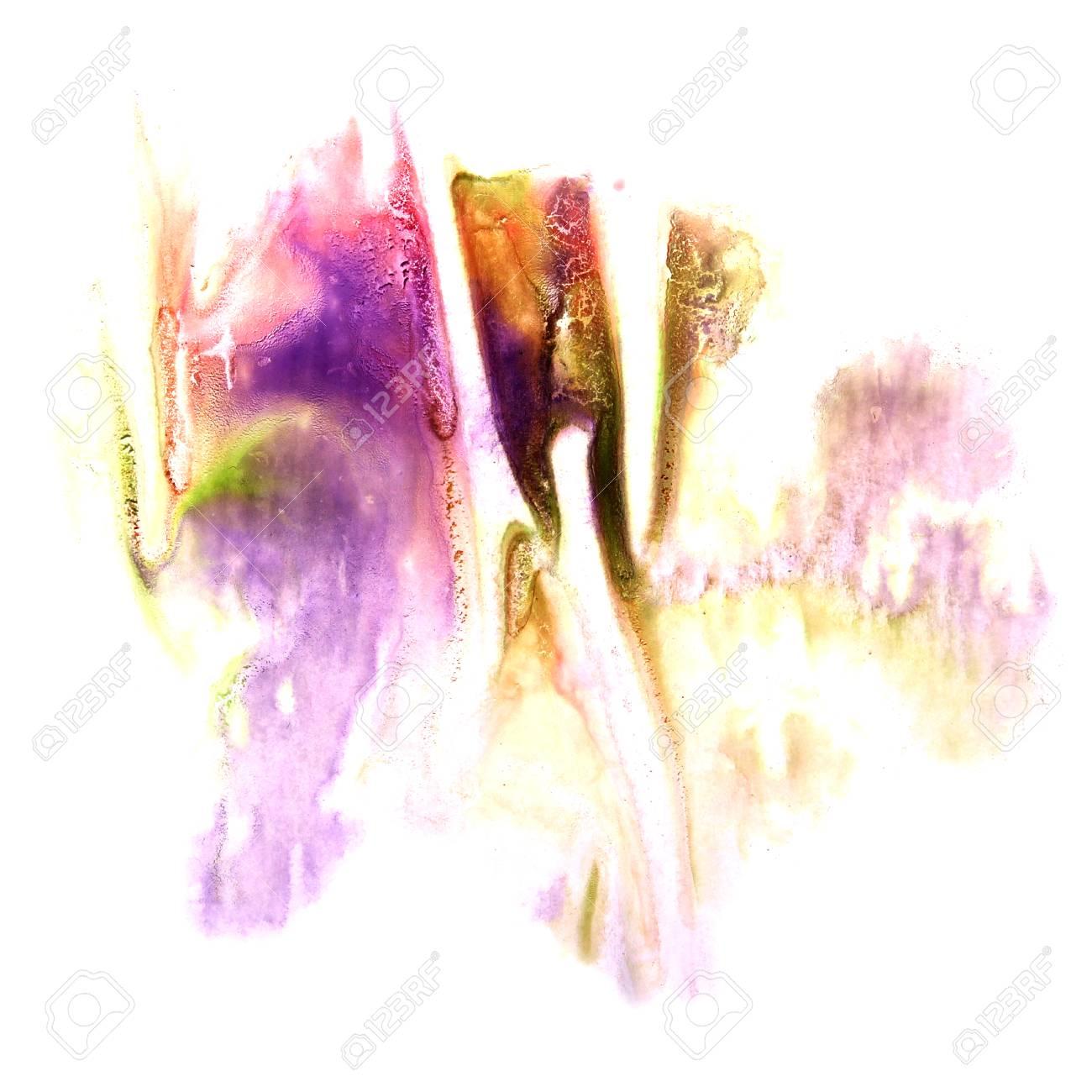 Peinture Violet Rose Vert Encre éclaboussures Spot Blob Tache De Pinceau à  Aquarelle Aquarelle Texture De Fond Abstrait