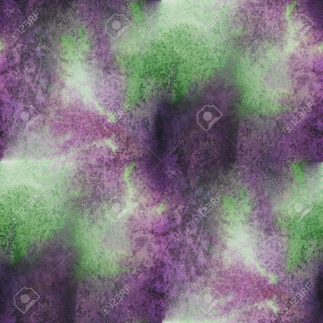 Charmant Eau Unique Violet Vert Transparente Aquarelle Modèle Abstrait Couleur  Brosse Peinture Aquarelle Fond