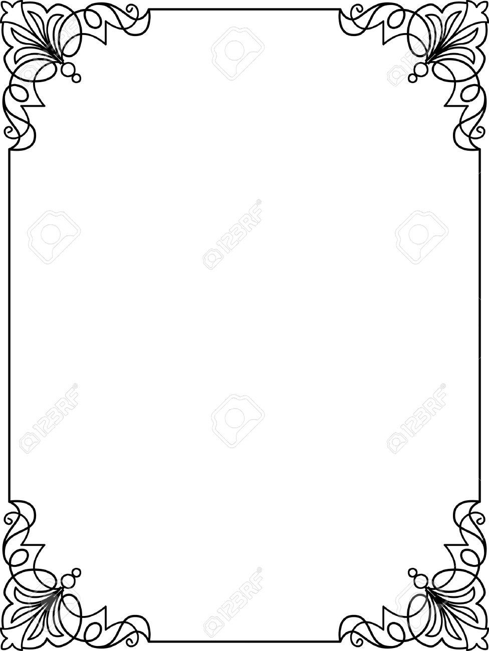simple lines border frame