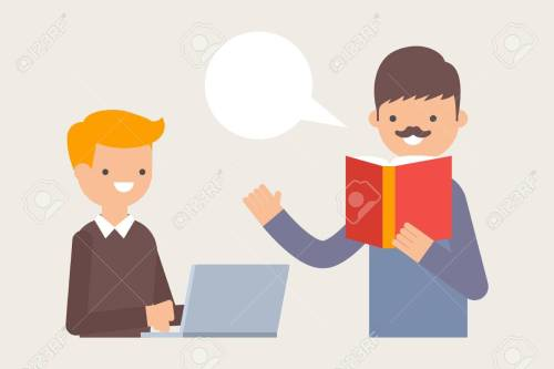 small resolution of vector vector illustration of teacher teaching student