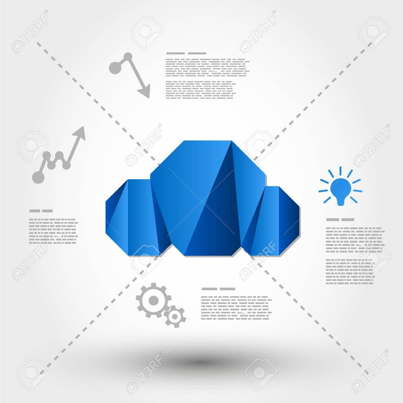 origami cloud concept computing