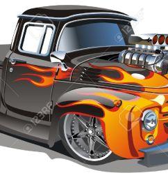 cartoon hot rod stock vector 7436781 [ 1300 x 723 Pixel ]