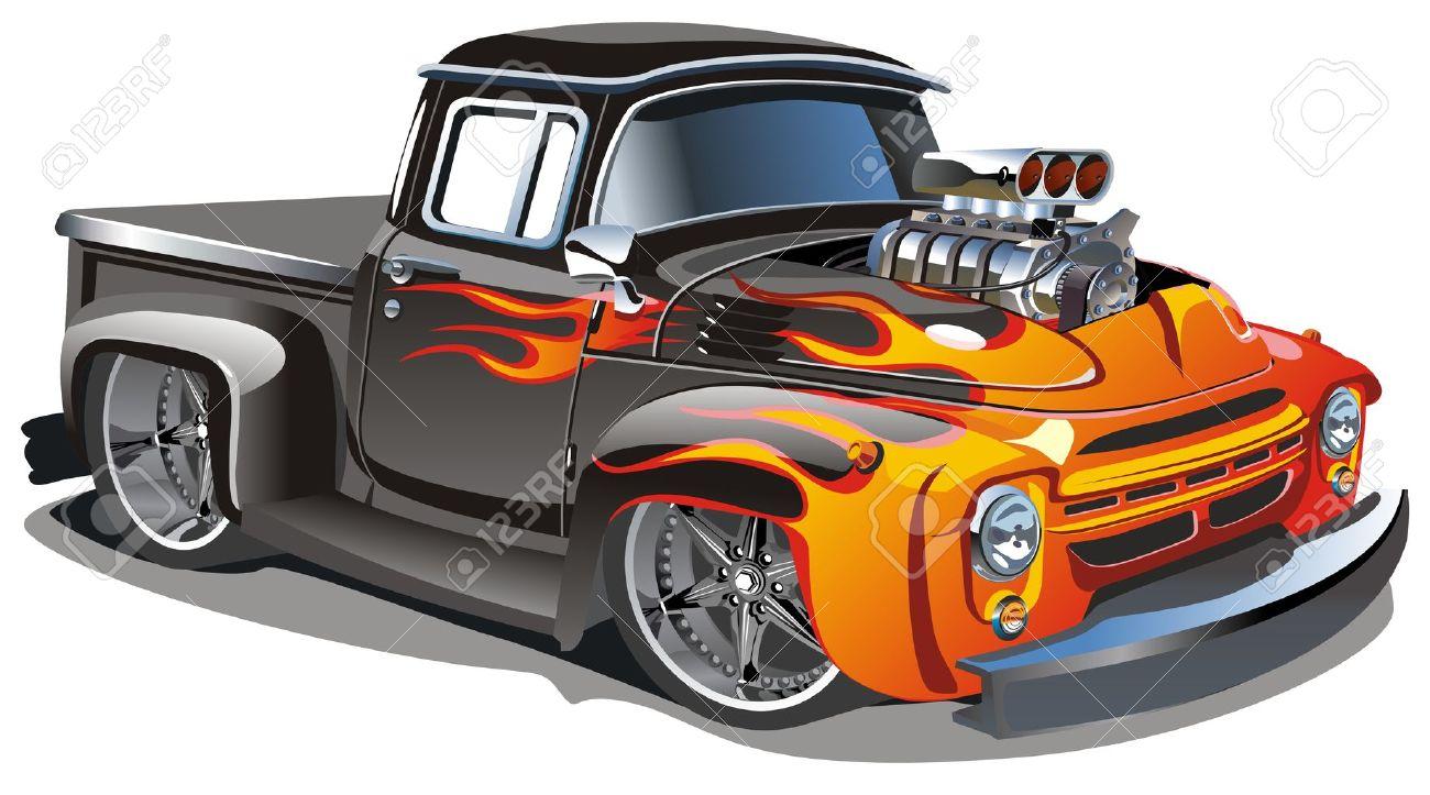 hight resolution of cartoon hot rod stock vector 7436781