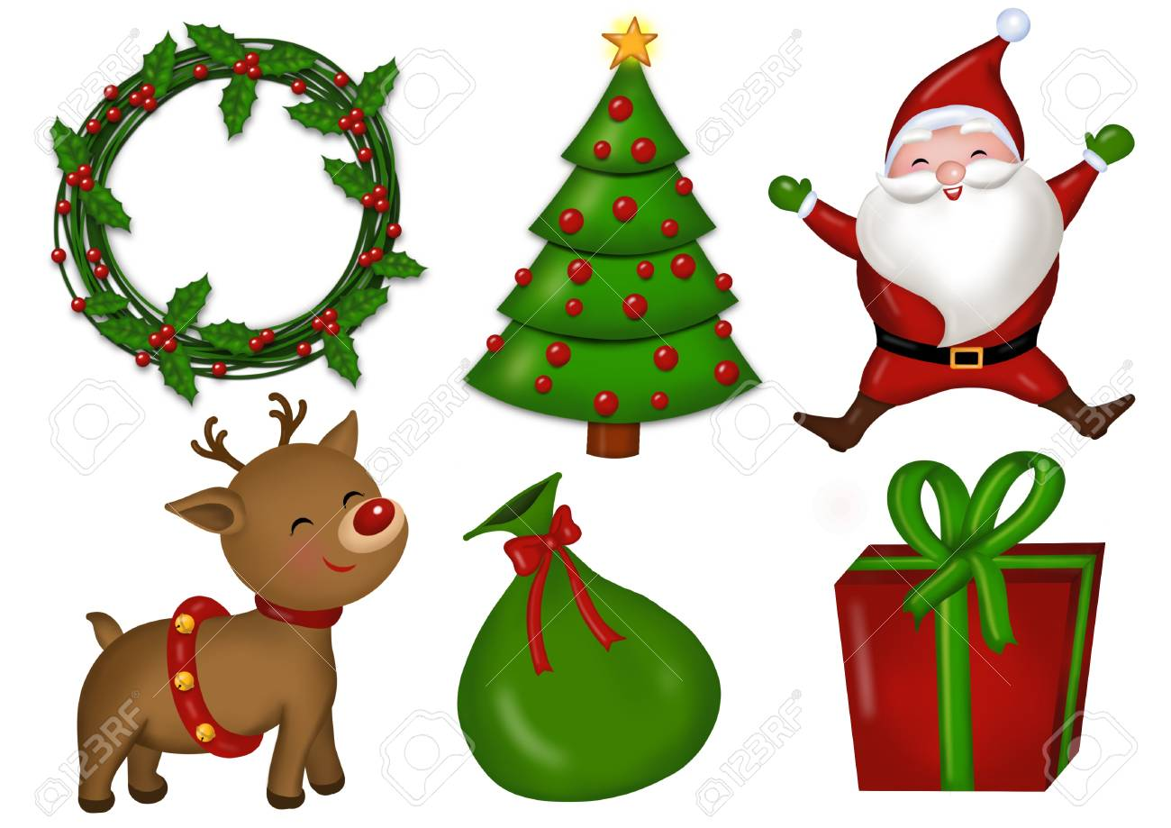 hight resolution of christmas clipart stock vector 89439217