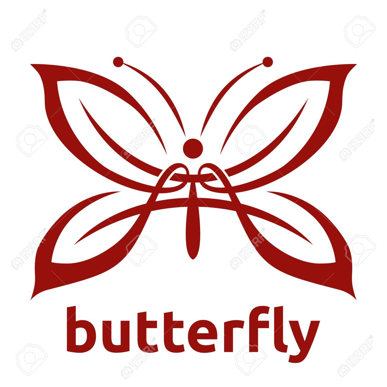 Butterfly Template Stock Photo - 43566158