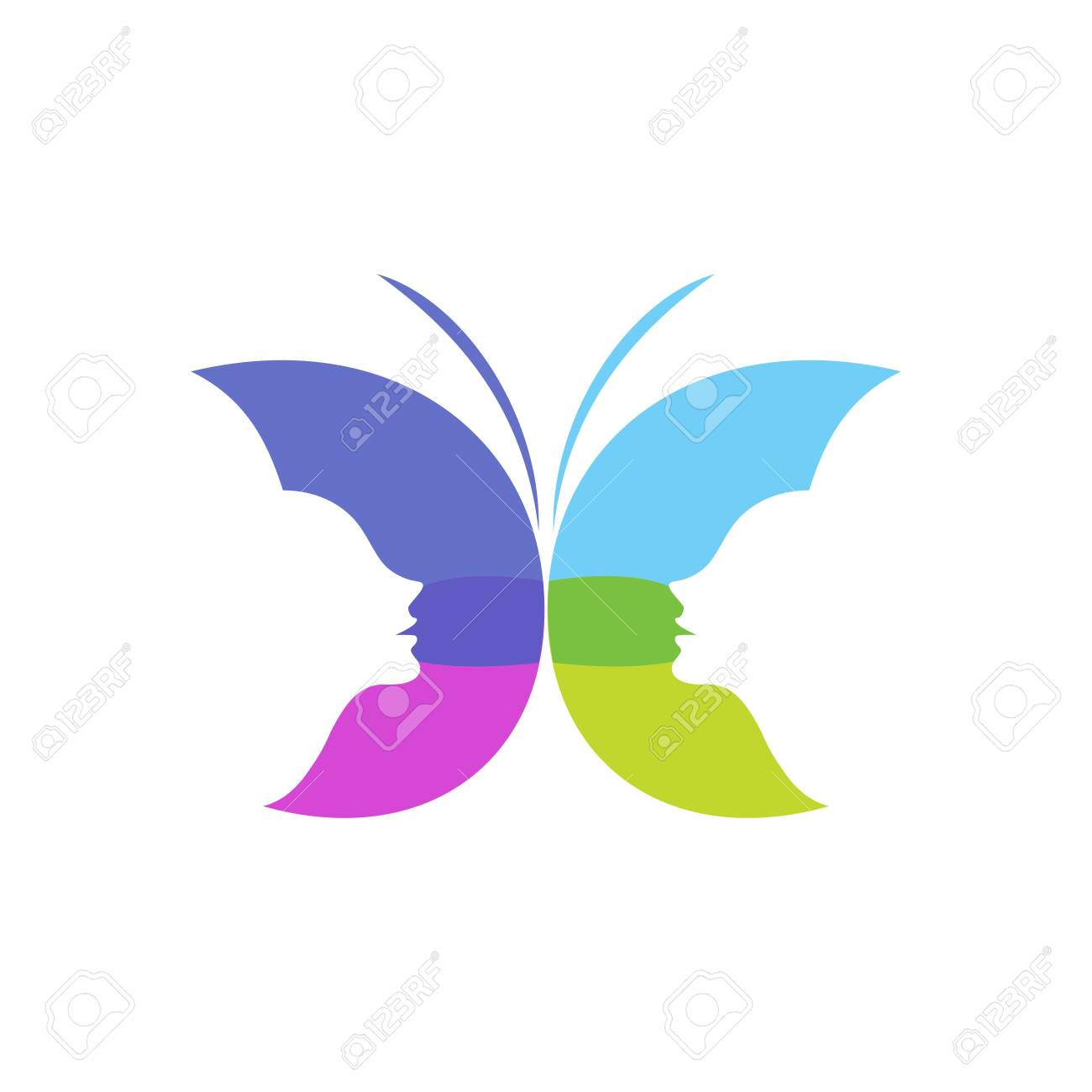 Butterfly Template Stock Photo - 49202940