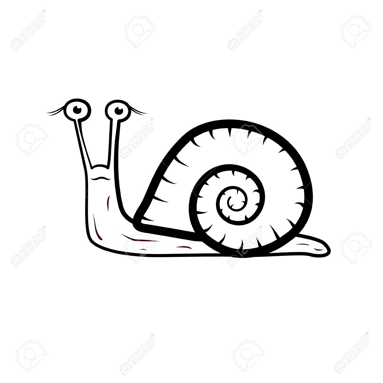 hight resolution of snail illustration isolated on white background stock vector 24472598