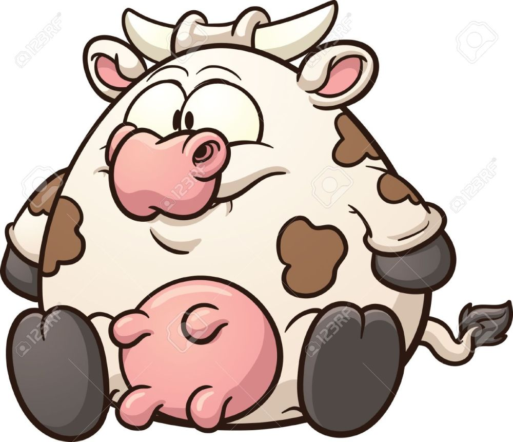 medium resolution of fat cow clip art stock vector 23830106