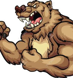 angry bear mascot vector clip art illustration all in a single layer stock [ 1300 x 1050 Pixel ]