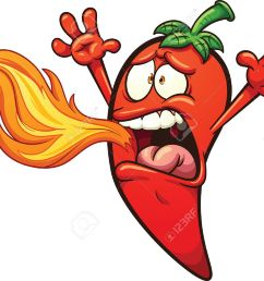spicy chili pepper breathing fire vector clip art illustration with simple gradients pepper and [ 1300 x 1049 Pixel ]