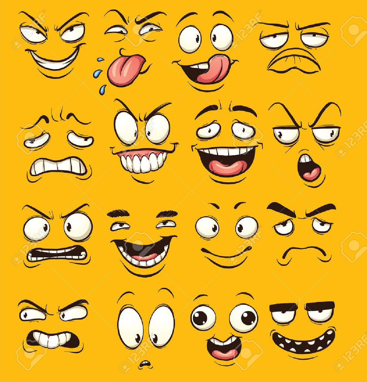 funny cartoon faces clip