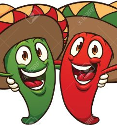 happy cartoon mexican chili peppers vector clip art illustration with simple gradients all in [ 1300 x 841 Pixel ]