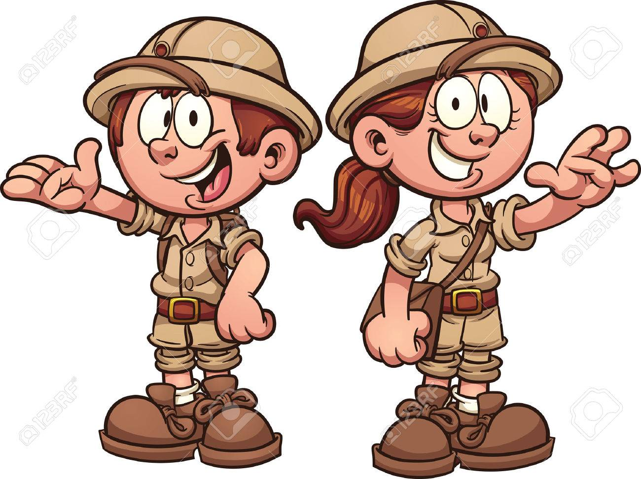 hight resolution of cartoon safari kids vector clip art illustration with simple gradients each on a separate