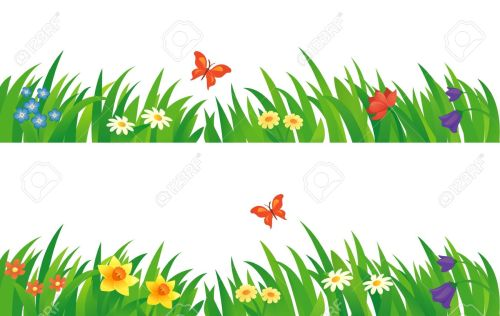 small resolution of vector vector set with summer grass and flowers