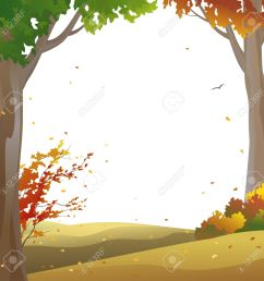 vector background with autumn trees and falling leaves [ 1300 x 1300 Pixel ]
