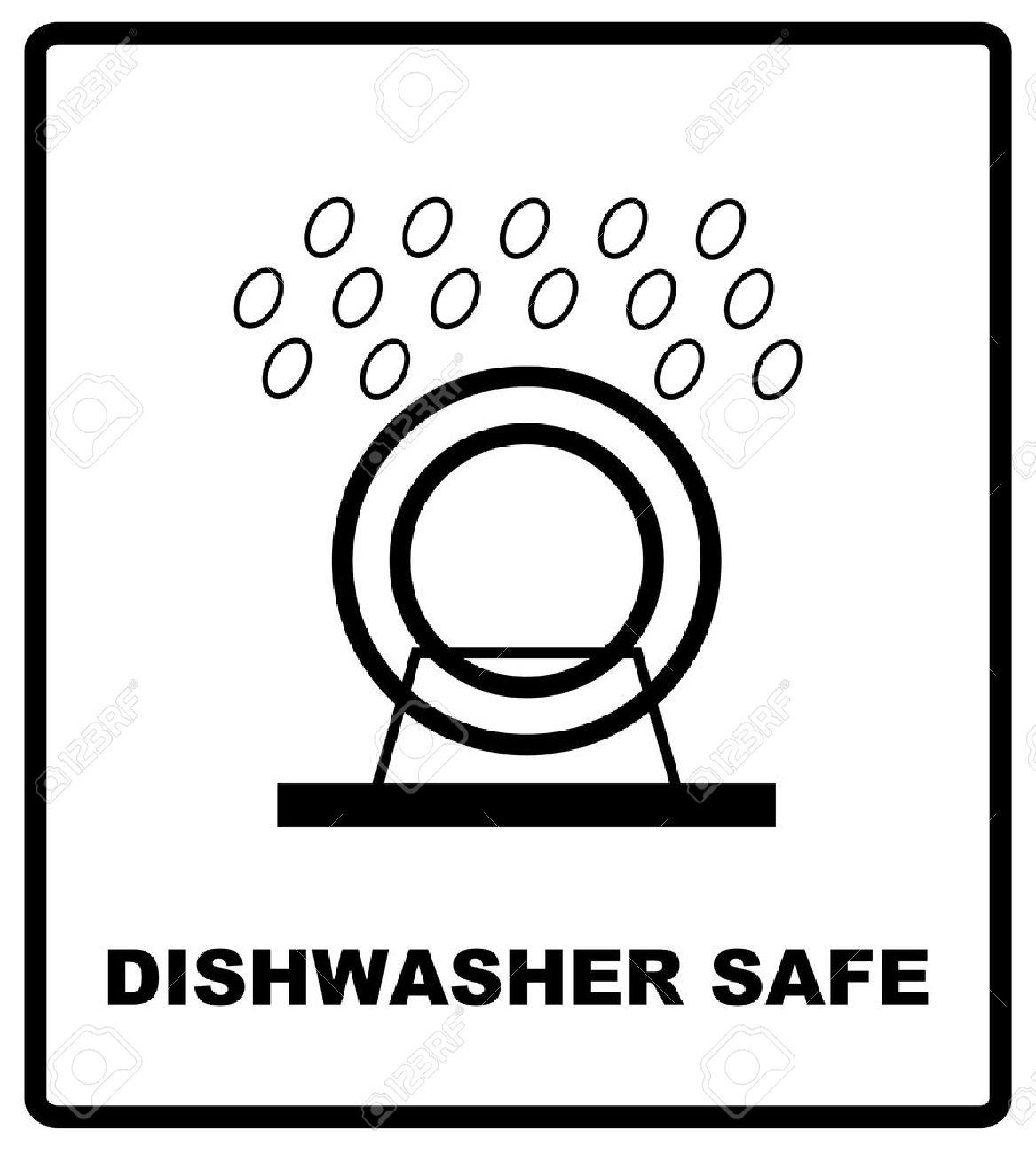 dishwasher safe symbol isolated