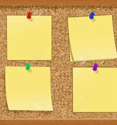 notes pinned to a cork board illustration stock vector 7988796 [ 1300 x 1000 Pixel ]