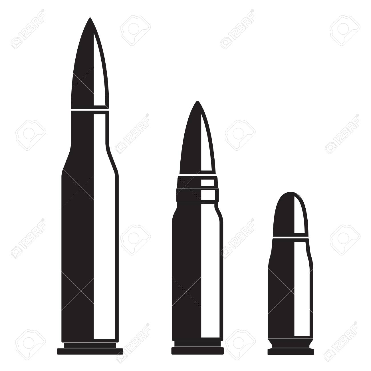 bullet icons set isolated