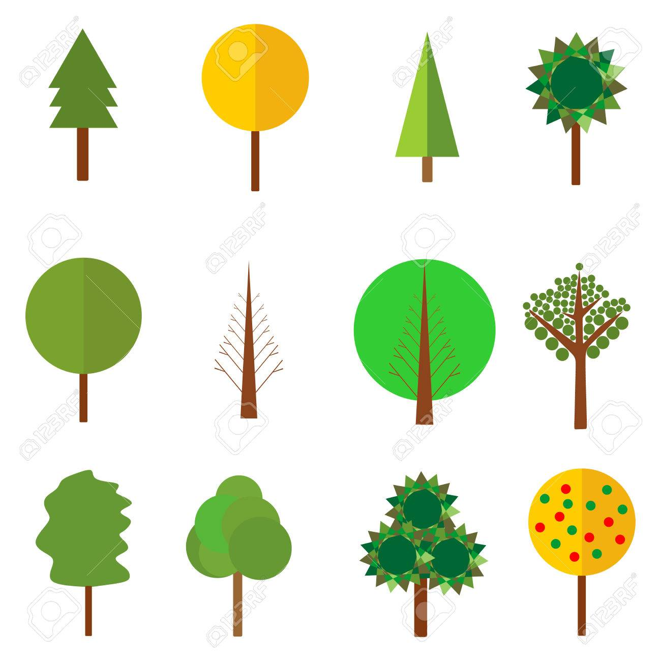 trees clipart vector tree