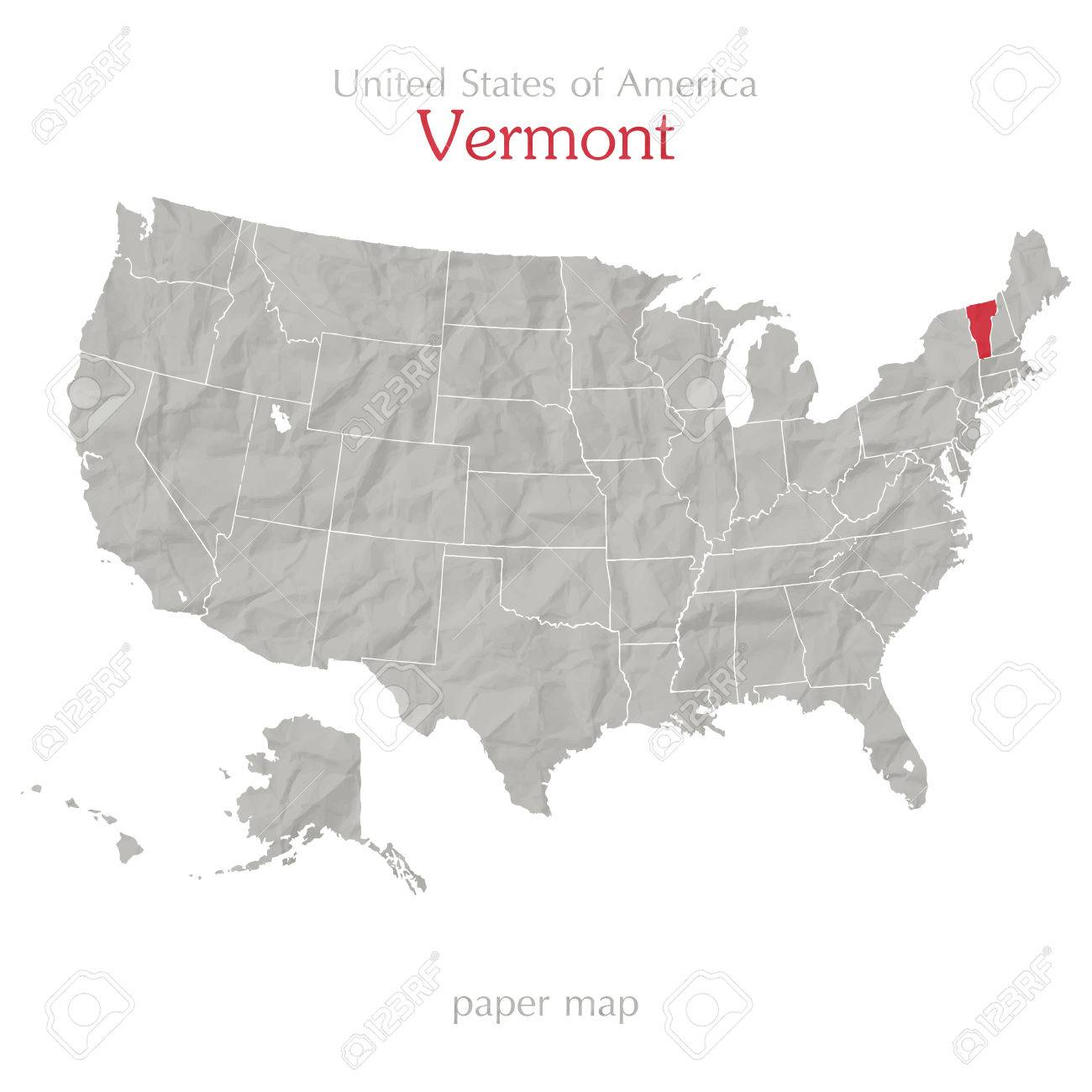 The map legend is sometimes called the map key. United States Of America Map And Vermont State Territory On Textured Paper Royalty Free Cliparts Vectors And Stock Illustration Image 28257321
