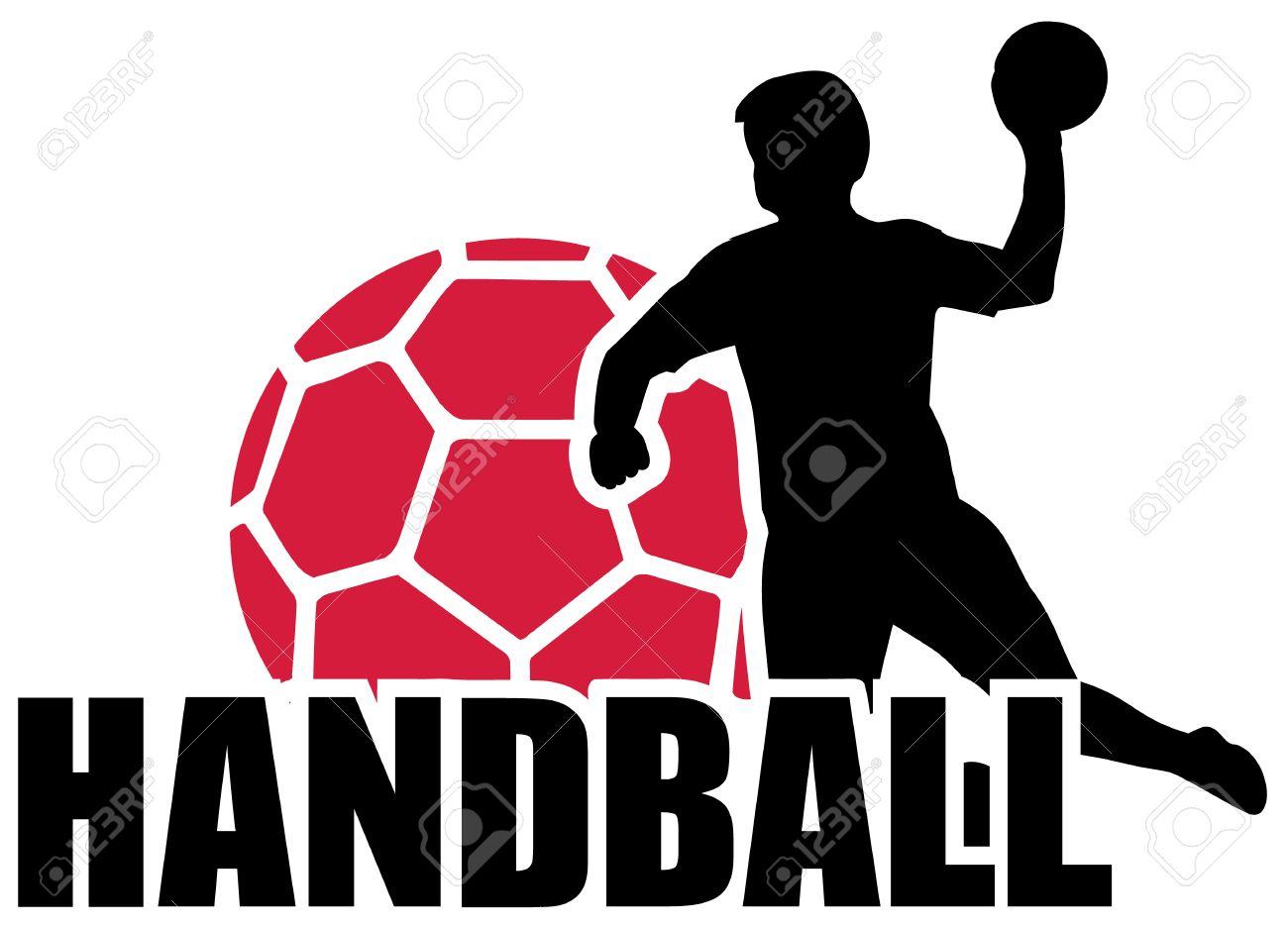 handball set silhouette ball