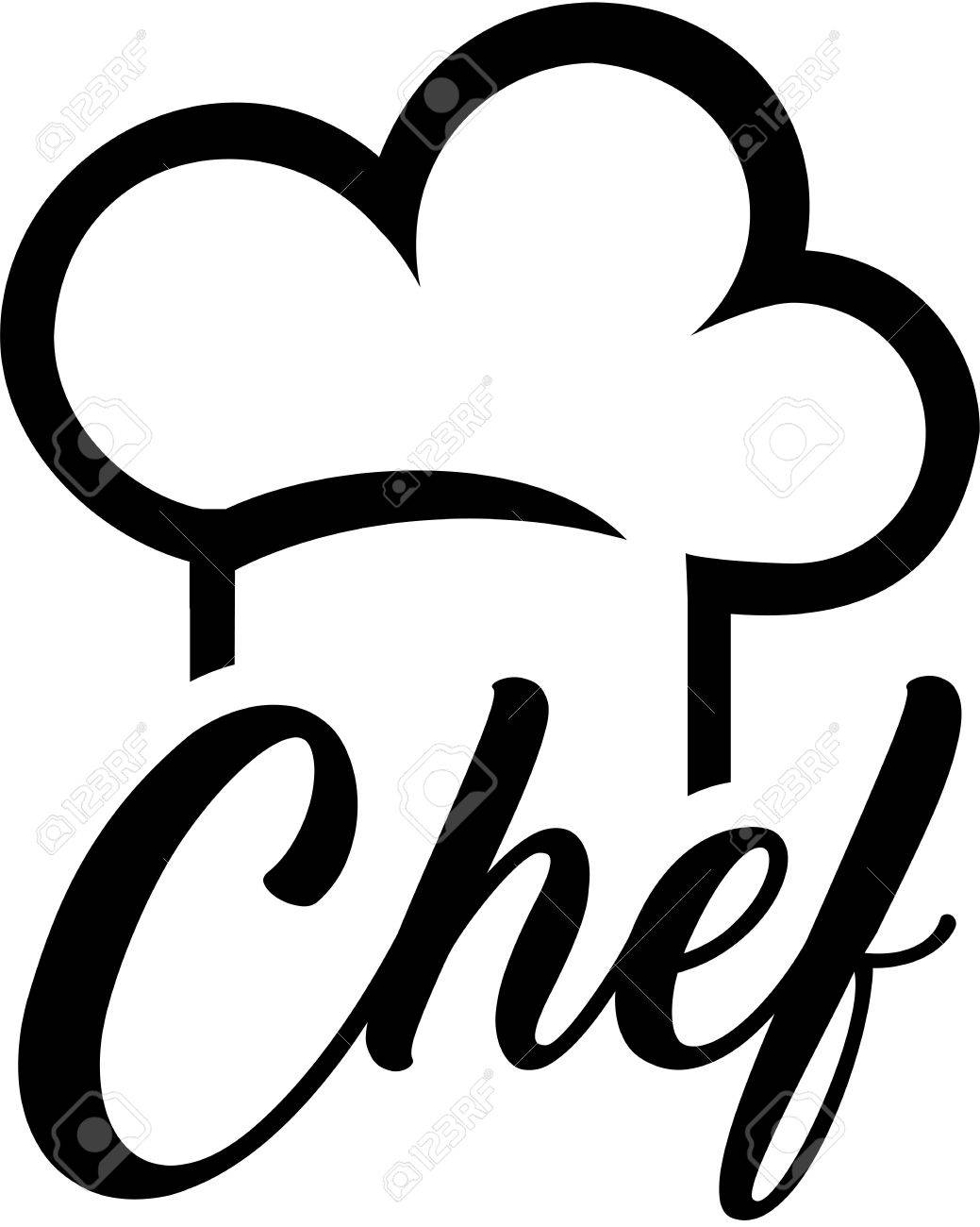 hight resolution of chef hat with chef word stock vector 81569190