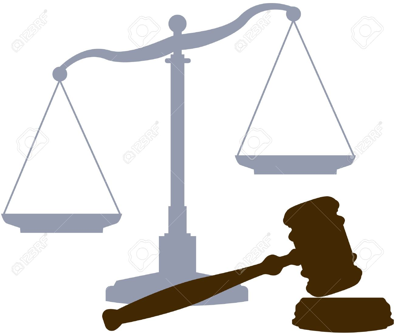 scales and gavel as