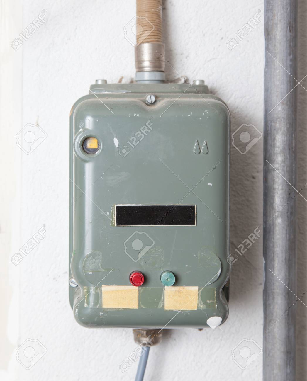hight resolution of old fusebox from the 80s house in switzerland stock photo 44314148