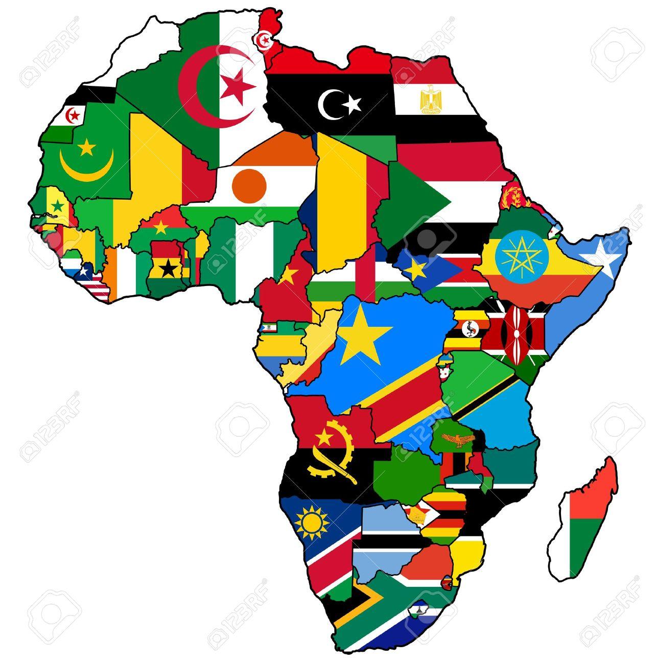 Resultado de imagen para mapa union africana