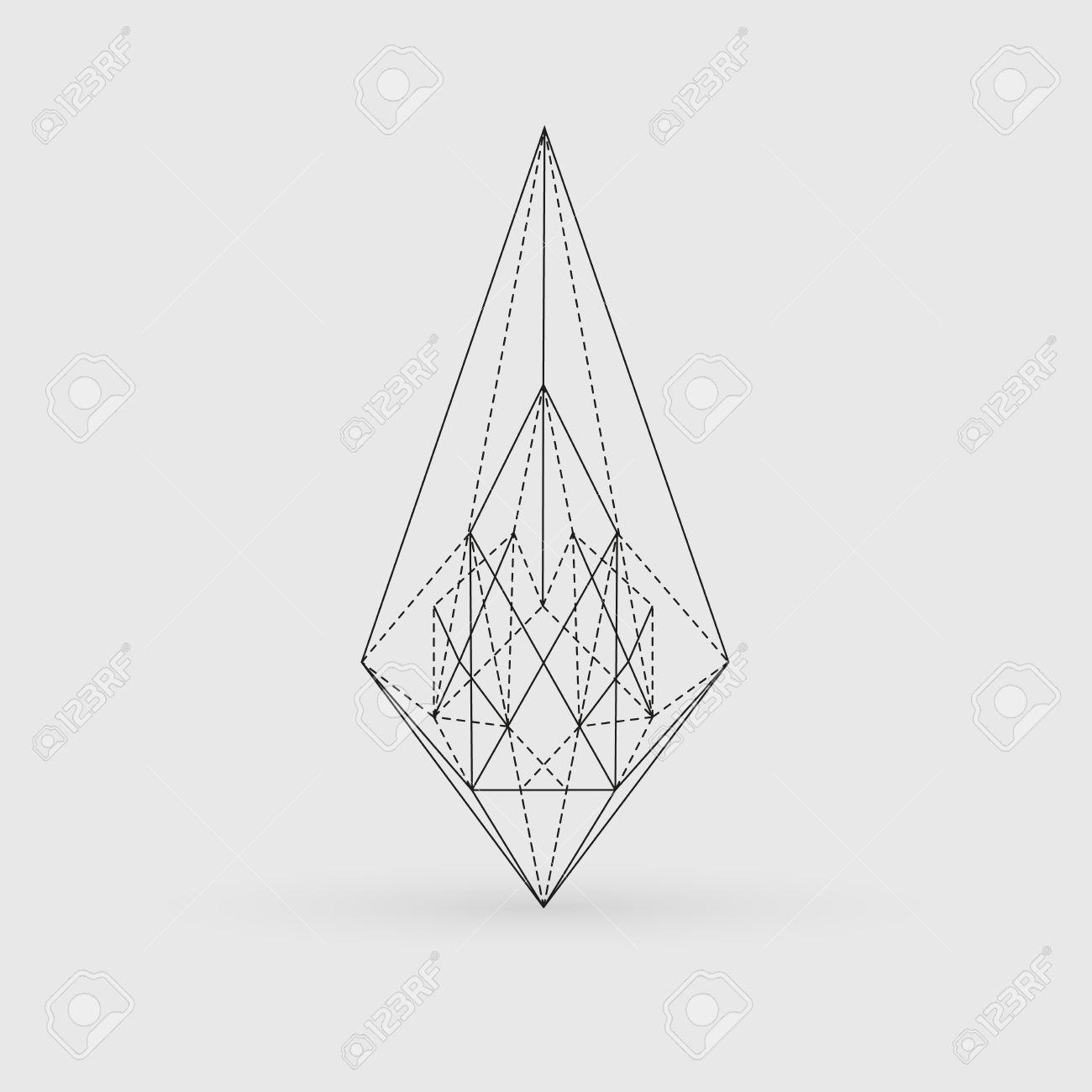 Forma Geométrica Poligonales Triángulos Arte Lineal Diseño De La