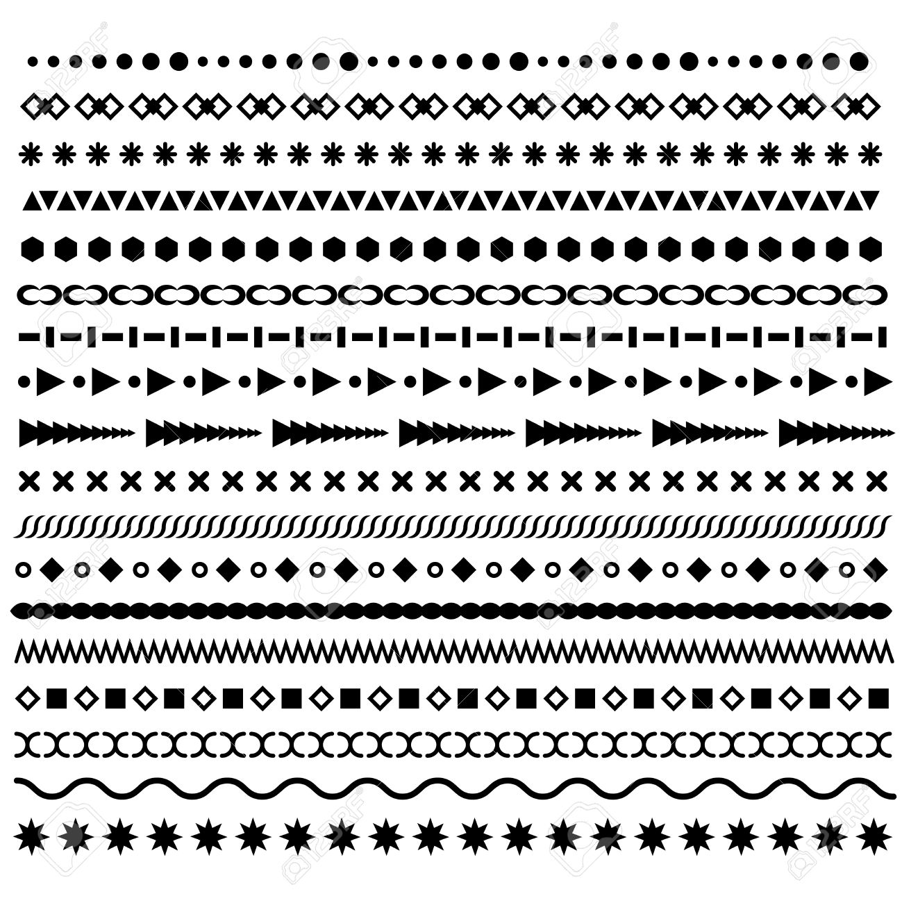 line borders set geometric