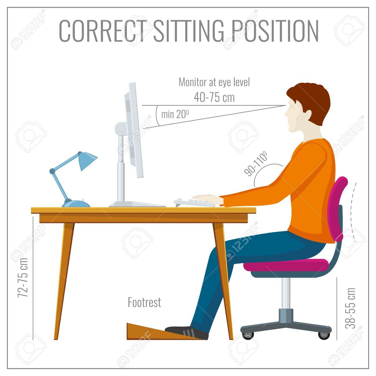 Richtige Sitzhaltung Büro Medi Body Orthopädisches Rückenkissen