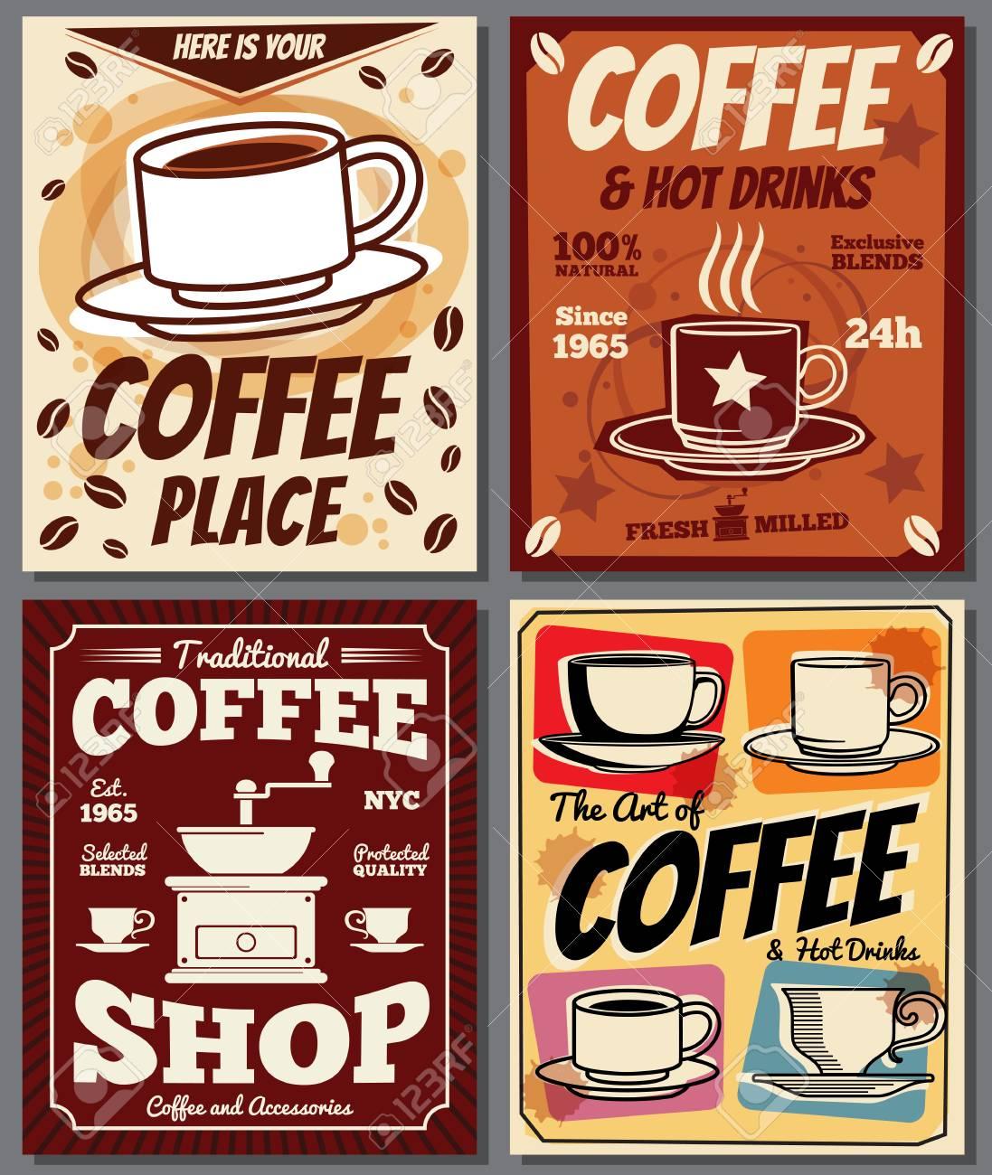 cafe and restaurant retro