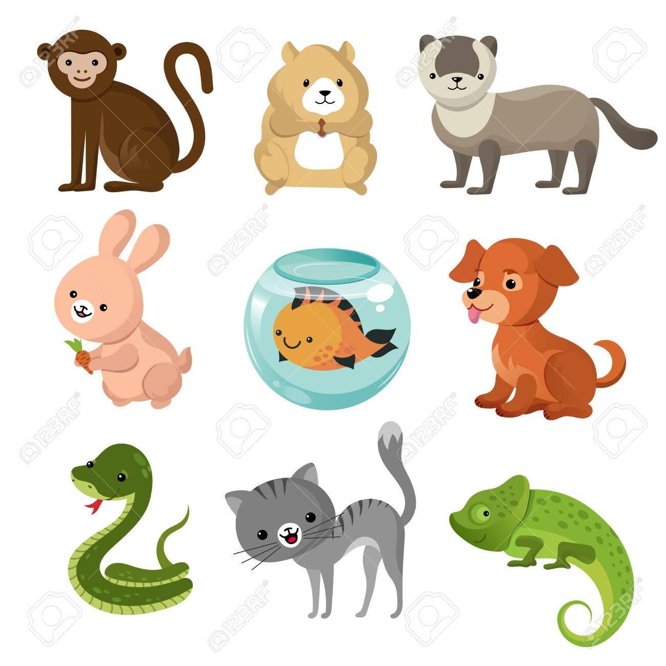cartoon cute home pets