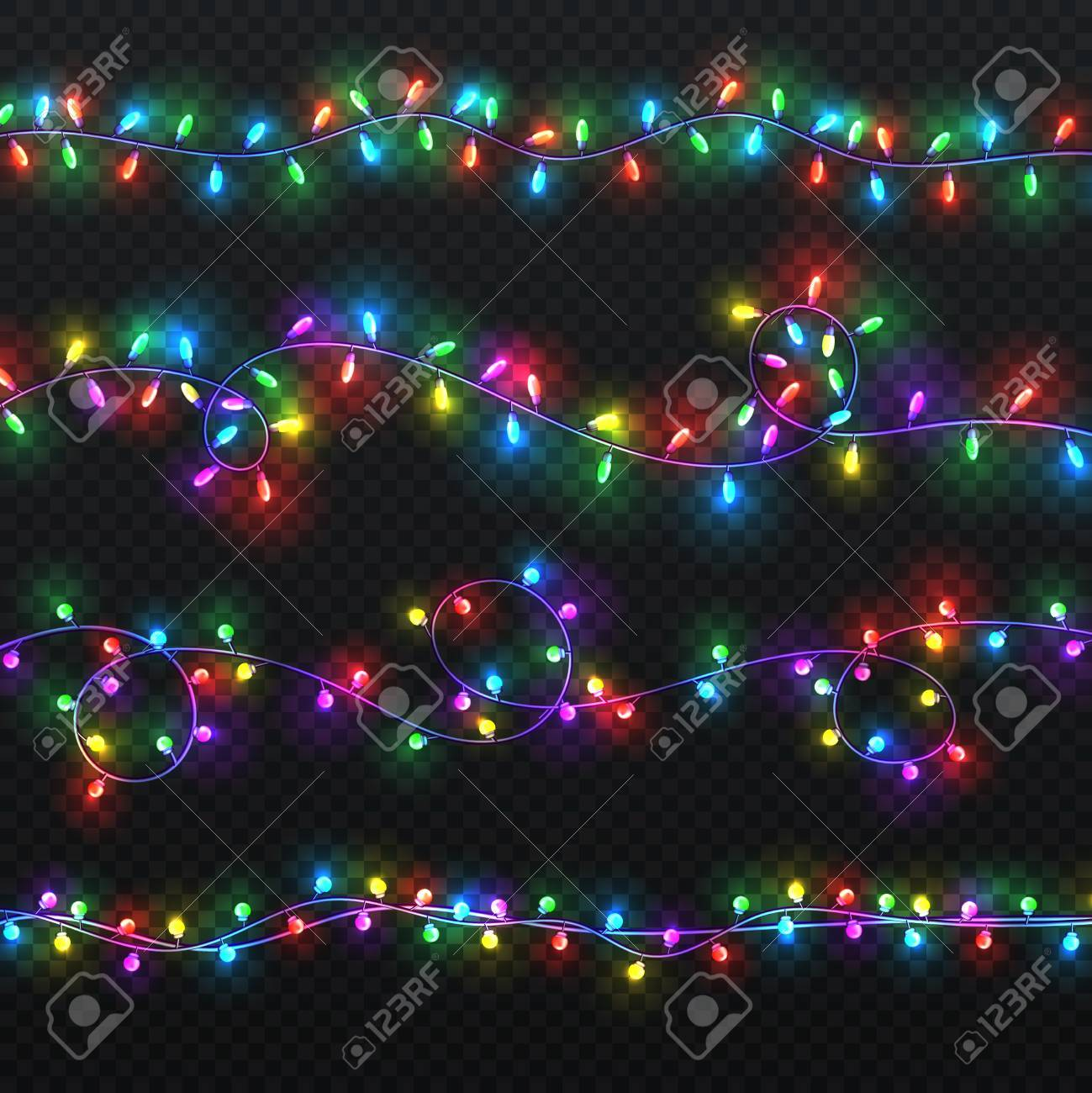 realistic colorful string lights