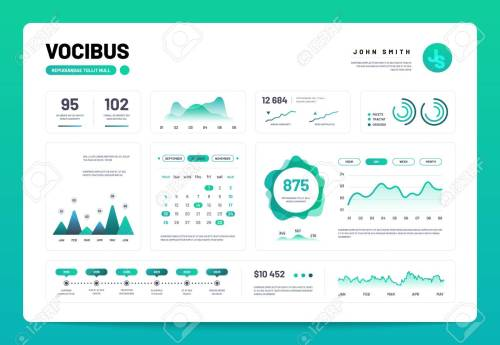small resolution of admin panel interface with green charts graphs and diagrams website design vector template graph and diagram infographic vector illustration
