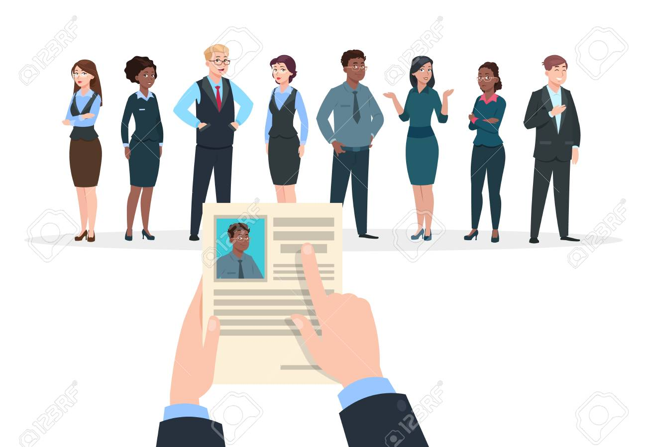 recruitment concept business people